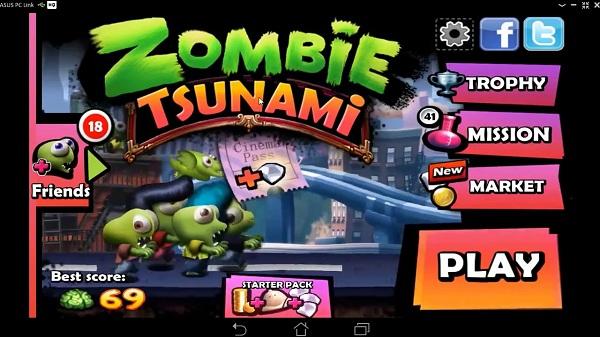 Zombie Tsunami là game chơi hấp dẫn liên tiếp gây sốt