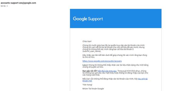 Cách lấy lại gmail khi mất số điện thoại