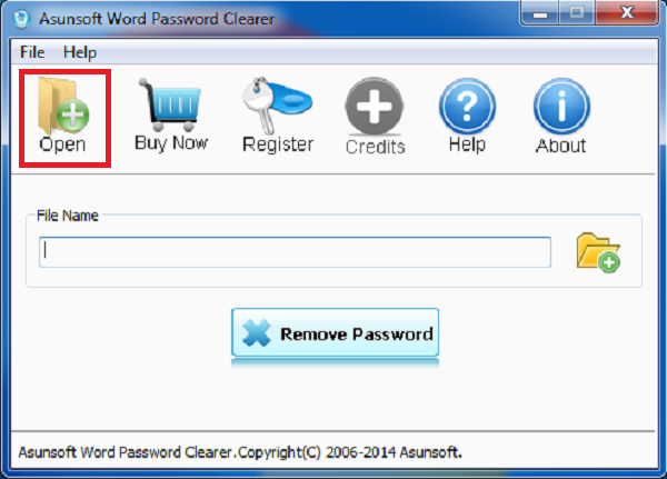 Chọn open để mở file word