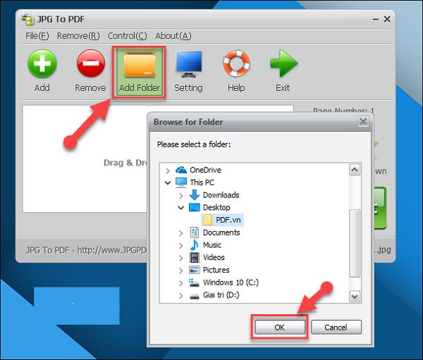 Thêm ảnh ghép file JPG vào ứng dụng