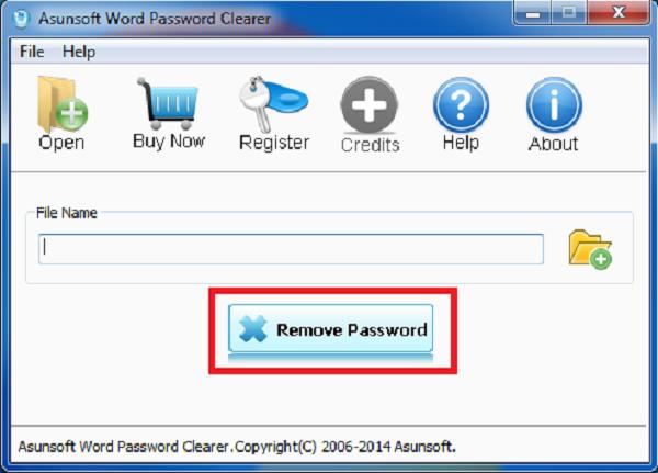 Nhấn Remove password để xóa mật khẩu