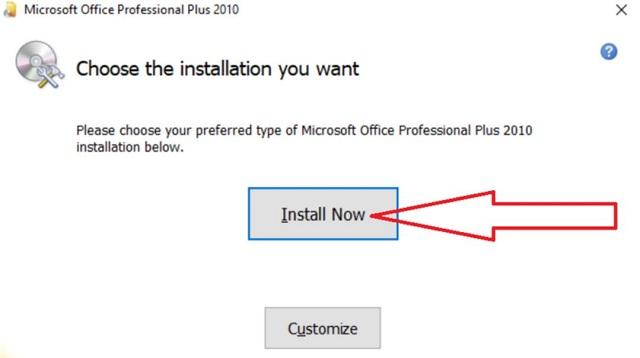 nhấn chọn vào mục Install Now để bắt đầu quá trình cài đặt.