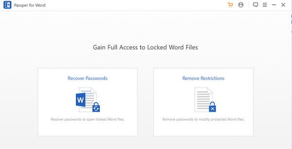 Phá pass bằng Passper Word Password Unlocker