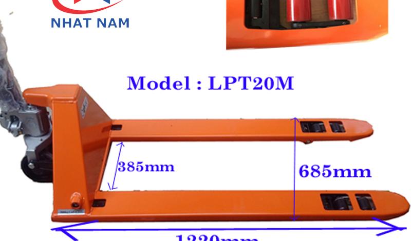 Thông tin về kích thước xe nâng tay LPT20M siêu thấp 51MM