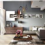 Trang trí phòng khách bằng bình hoa gốm đơn giản