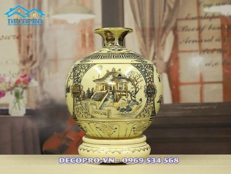 Bình gốm Chu Đậu tại Decopro