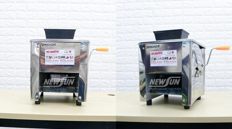 (Máy thái thịt mini SS90 được thiết kế vuông vắn, gọn nhẹ khi sử dụng)